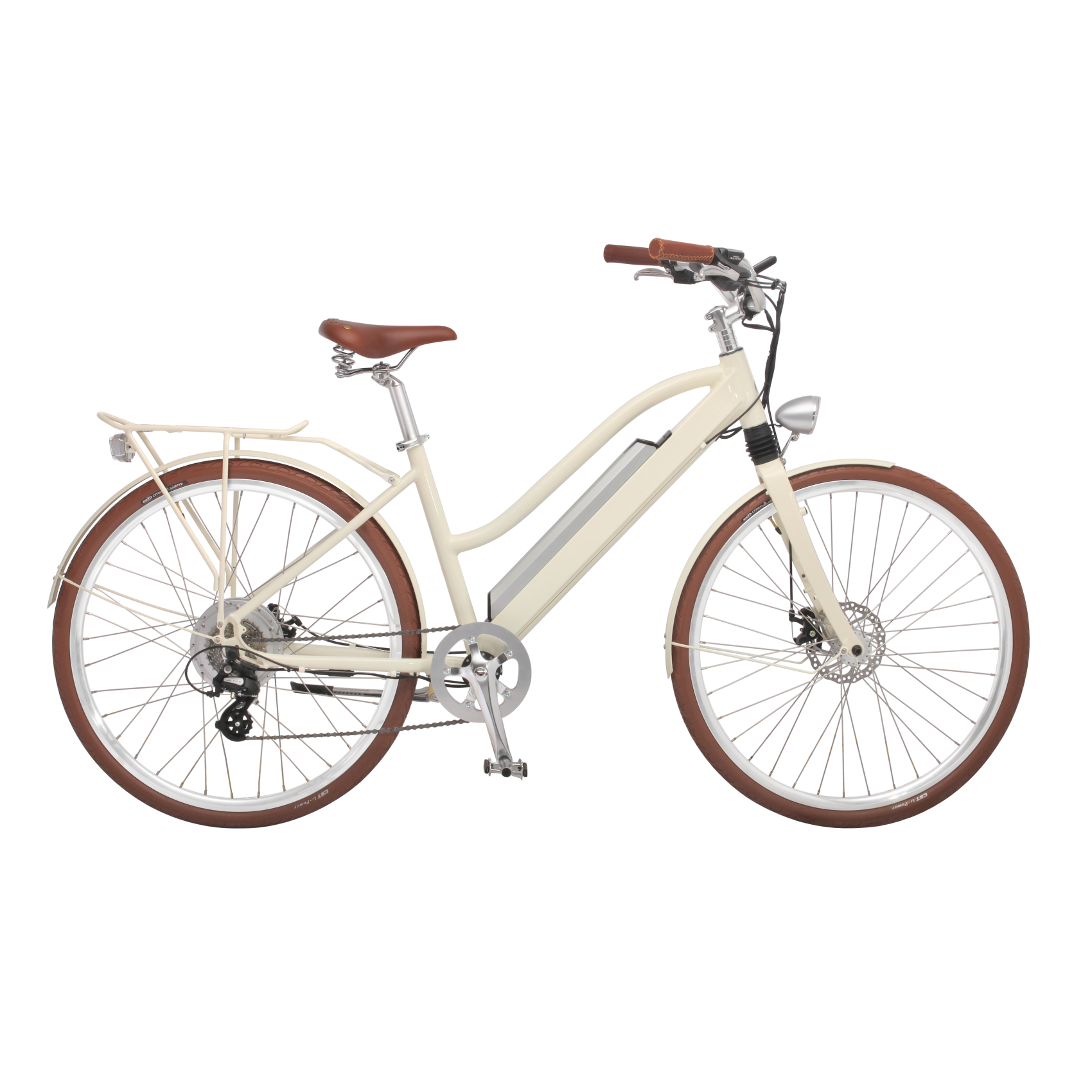 e bike snow white heckmotor 250w mit schutzblech. Black Bedroom Furniture Sets. Home Design Ideas